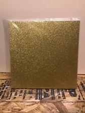 "20 piece Gold Glitter 12""x12"" Scrapbook Paper Card Stock"
