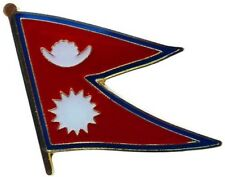 Nepal Country Flag Bike Motorcycle Hat Cap lapel Pin