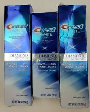 3 Crest 3D White Luxe Diamond Strong Whitening Toothpaste Brilliant Mint 4.8/3.5