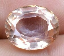 Ceylon's 7.15 Ct Padparadscha Sapphire Oval Shape Loose Gemstone Certified A0700