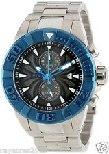 Invicta Men's 12309 Pro Diver Chronograph Black Textured Dial Stainless Steel