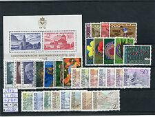 Liechtenstein 1972 Annata completa 31v + 1 Bf MNH