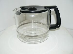 Krups 12 Cup Glass Coffee Carafe w/ Lid Replacement ProAroma 453 452 BLACK