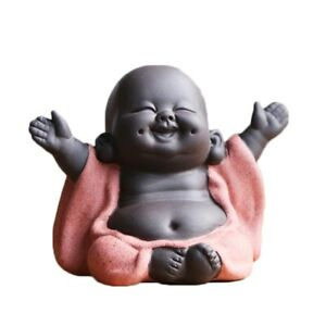 1Pc Tea Favor Happy Maitreya Buddha Tea Pet Teahouse Ornament Ceramic Home Decor