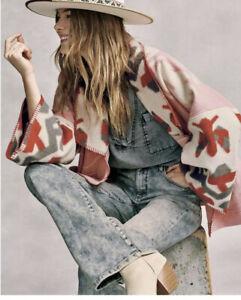 NWOT Anthropologie Heidi Kimono Jacket M $228 Current Fleece