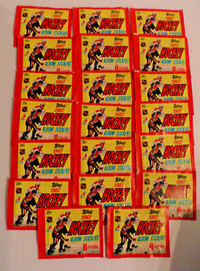 20 PACKS OF 1982 TOPPS HOCKEY STICKERS, NEVER OPEN,MINT