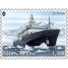 monaco 2017 boat ship LE YERSIN boot bateau navire 1v mnh **