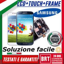 DISPLAY LCD+TOUCH SCREEN+FRAME X SAMSUNG GALAXY S4 GT-I9505 I9500 SCHERMO VETRO!