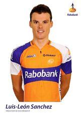 CYCLISME carte  cycliste  LUIS LEON SANCHEZ équipe RABOBANK