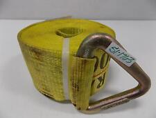 """Pacific Cargo Control Yellow Winch Strap 4""""X27"""" With V Ring 4527-Vr"""