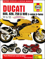 DUCATI SHOP SERVICE REPAIR MANUAL BOOK HAYNES 600 620 750 900 WORKSHOP 91-05
