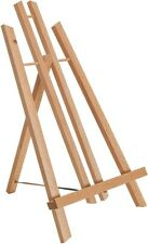 14� Medium Tabletop Wood Display Stand A-Frame Artist Easel, Aged Beechwood