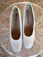 Block Heel Leather Wide (C, D, W) Heels for Women