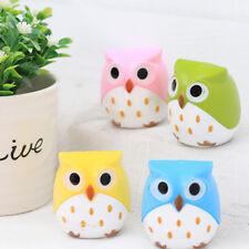 Kawaii Plastic Owl Pencil Sharpener Cutter Stationery Gifts Kids School Supplies