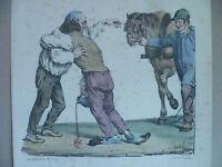 Lito S.XIX Langlume Un Instant Cam ' Rade Por Pigal Edme Jean Circa 1823