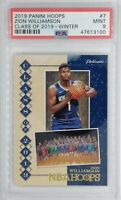 2019 NBA Hoops Class of 2019 Winter Zion Williamson Rookie RC #7, Graded PSA 9