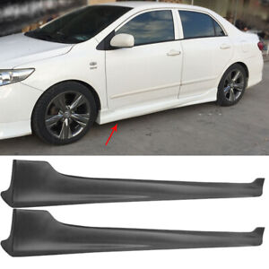 Side Skirts For Toyota Corolla Sedan Body Kits 2008 2009 2010 2011 2012 2013