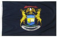 3x5 State of Michigan Super Poly Flag 3'x5' House Banner Fade Resistant