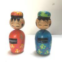 Lot of 2 Vintage Kokeshi Dolls Pencil Sharpeners OMC Japan