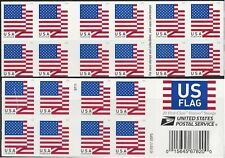 New listing 2018 #5263 Us Flag Pane of 20 double-sided Mnh