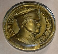 Antique WWI General Pershing Glass Paperweight