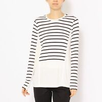 Women's BCBG MAX AZRIA Morgin Fashion Striped Sweater Long sleeve Top Shirt