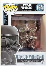 Funko Pop Imperial Death Trooper Chrome # 154 Rogue One Bobble Head New