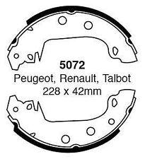 EBC Brake shoes 5072 To Fit Peugot 304 305  Renault 17 18 21 25