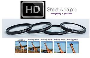 PRO 4 PCS HI DEF CLOSE-UP MACRO LENS SET +1 +2 +4 +10 for FujiFilm X-T100