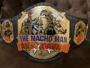 THE MACHO MAN RANDY SAVAGE CHAMPIONSHIP BELT ADULT SIZE ooh yeh