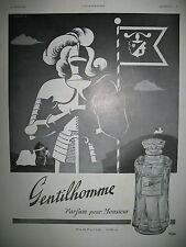 PUBLICITE DE PRESSE WEIL GENTILHOMME PARFUM POUR HOMME FLACON FRENCH AD 1941