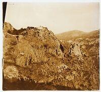 Secco 1925 Montagne Francia Foto Stereo PL58L2n Placca Da Lente