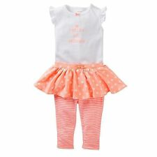 Carter's Baby Girl Pretty Like Mommy Bodysuit Tutu Pants Set-18 mo-FREE SHIP