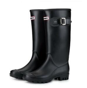 Womens Candy colors Matte Rubber Rain Boots Waterproof High top Boots Casual New