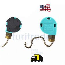 Zing Ear ZE-268S6 & ZE-208S6 Pull Chain Switch 3 Speed Brass New