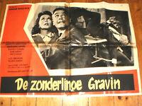 KLEIN  Filmplakat,DER ZONDERLINGE GRAVIN,EDGAR WALLACE,JOACHIM FUCHSBERGER