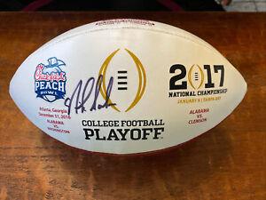 Nick Saban Signed 2017 College Playoff Football Psa Dna Coa Alabama Autographed