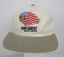 Vintage Carquest Auto Parts Eagle American Flag Logo Snapback Hat One Size Cap