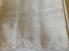Vintage Lavish Linen Bed Sheet And One Pillow Case Appenzell 1930