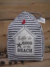 """Türdeko """"Life is good at the Beach"""" maritime Deko Türstopper Stoff See Meer"""