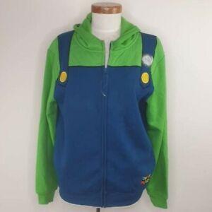 Licensed Nintendo Super Mario Bros Luigi Costume Hoodie  Brand New