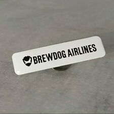 More details for brewdog airlines logo text pin badge very rare