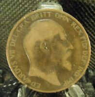 CIRCULATED 1904 1 LARGE PENNY UK COIN (21519)1.....FREE DOMESTIC SHIPPING!!