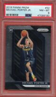 2018-19 Panini Prizm #32 Michael Porter Jr. PSA 8 Rookie RC Denver Nuggets
