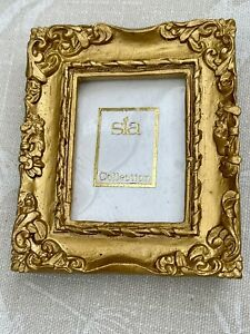 MINIATURE BAROQUE ROCOCO GOLD PICTURE PHOTO FRAME NEW BOXED OLD STOCK GIFT SIA