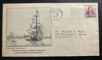 1932 Chester PA USA First Day Cover FDC William Penn Landing Anniversary