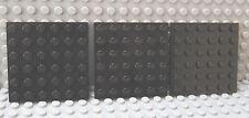 LEGO Black 6 x 6 Plate Lot of THREE