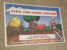 "New ""Farm Sing-Along Alphabet"" Teacher Children's Large Story Cards/Posters"