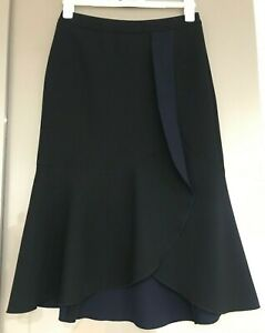 Veronika Maine Black Ponte Skirt Size 8 (Fit 10)