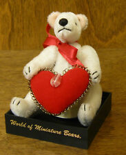 World of Miniature Bears #975 VALENTINE, by Reanne Gladden, NEW From Retail Shop